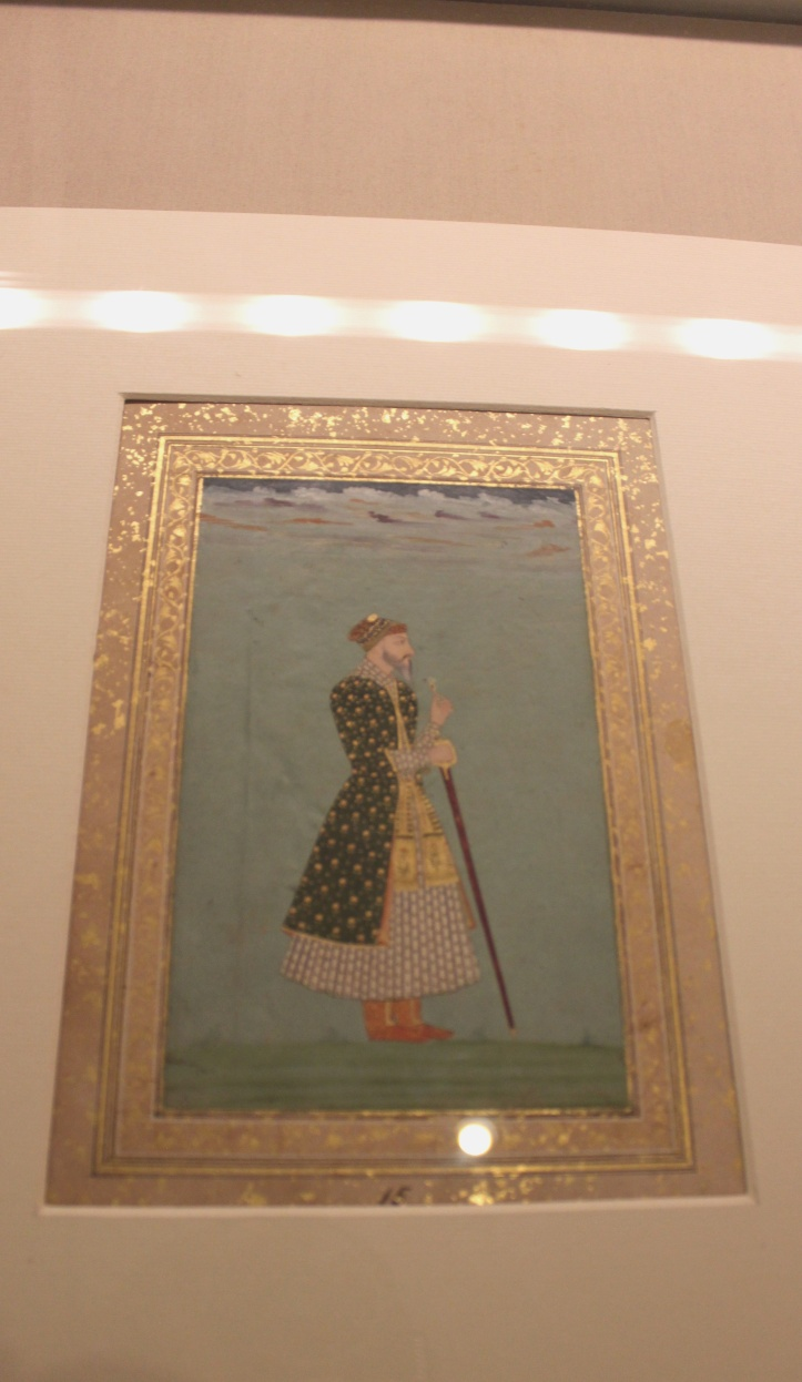 Portrait of an unknown nobleman: Mughal, Delhi, c. 1675 CE (Indian Miniature Painting - Photograph in mirandavoice.com)