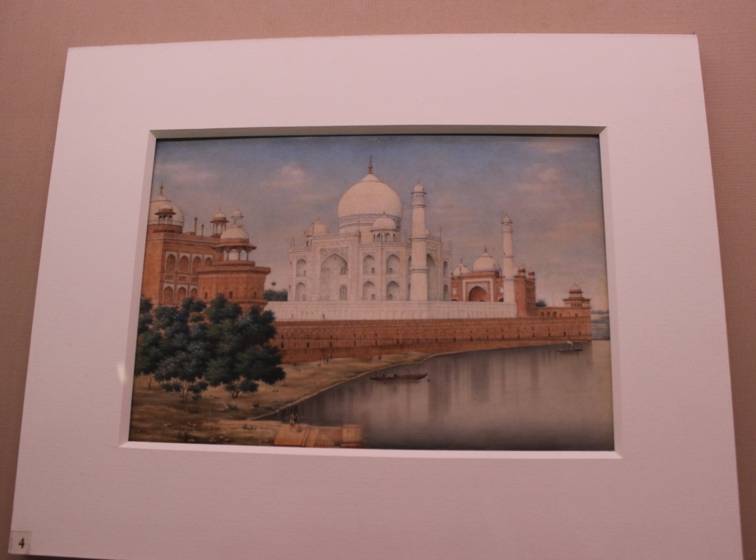 Tajmahal from the river side: Painting on Ivory, Mughal, Delhi, Early 20th century CE, Sir Ratan Tata Art Collection (Indian Miniature Painting - Photograph in mirandavoice.com)