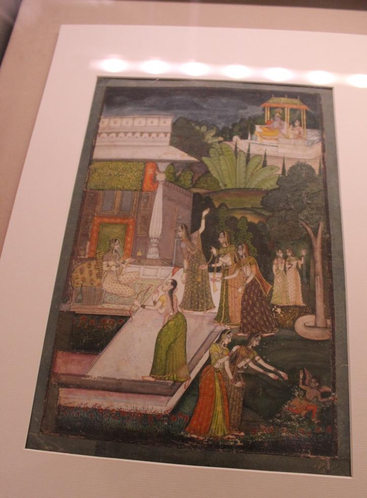 Manabhava of Radha and Krishna: Rajasthani, Kishangarh, Mid-18th century CE (Indian Miniature Painting - Photograph in mirandavoice.com)