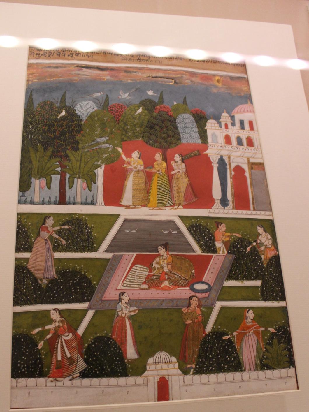 Ragini Gauri: Malwa, Central India, C 1700 CE (Indian Miniature Painting - Photograph in mirandavoice.com)