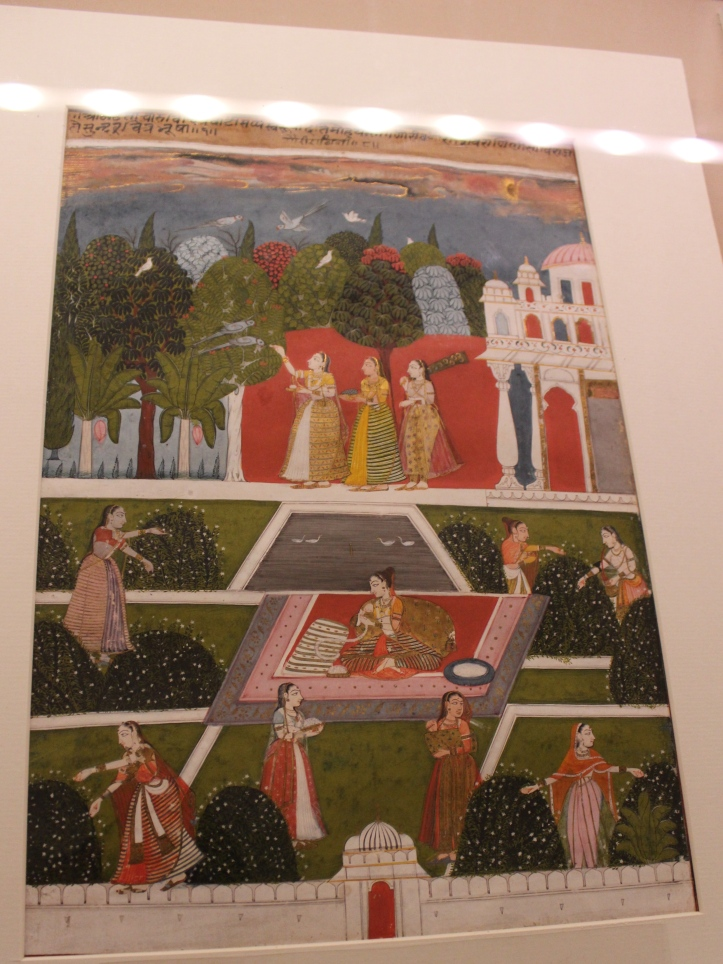 Ragini Gauri: Malwa, Central India, C 1700 CE (Indian Miniature Painting - Photograph in mirandavoice.com)