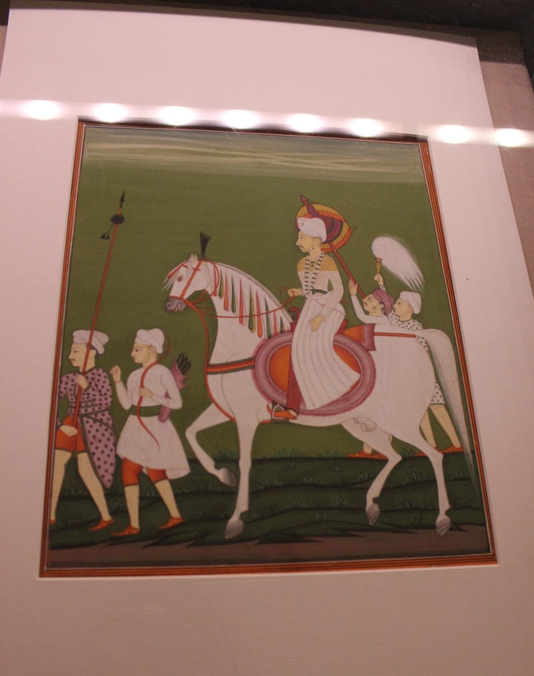 Balaji Bajirao alias Nanasaheb Peshwa: Deccani, Satara, Copy made in 1854 at Satara (Indian Miniature Painting - Photograph in mirandavoice.com)
