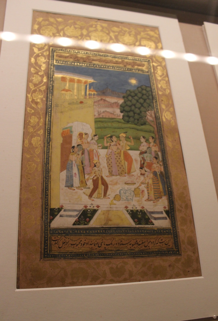 Ragini Vasant: Deccani, Hyderabad, c. 1725 CE, Sir Ratan Tata Art Collection (Indian Miniature Painting - Photograph in mirandavoice.com)