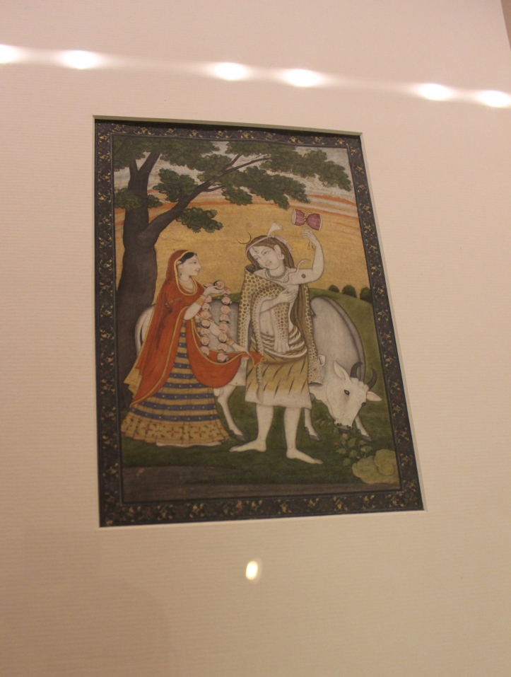 Shiva Parvati: Pahari, Guler, Late 18th century CE (Indian Miniature Painting - Photograph in mirandavoice.com)