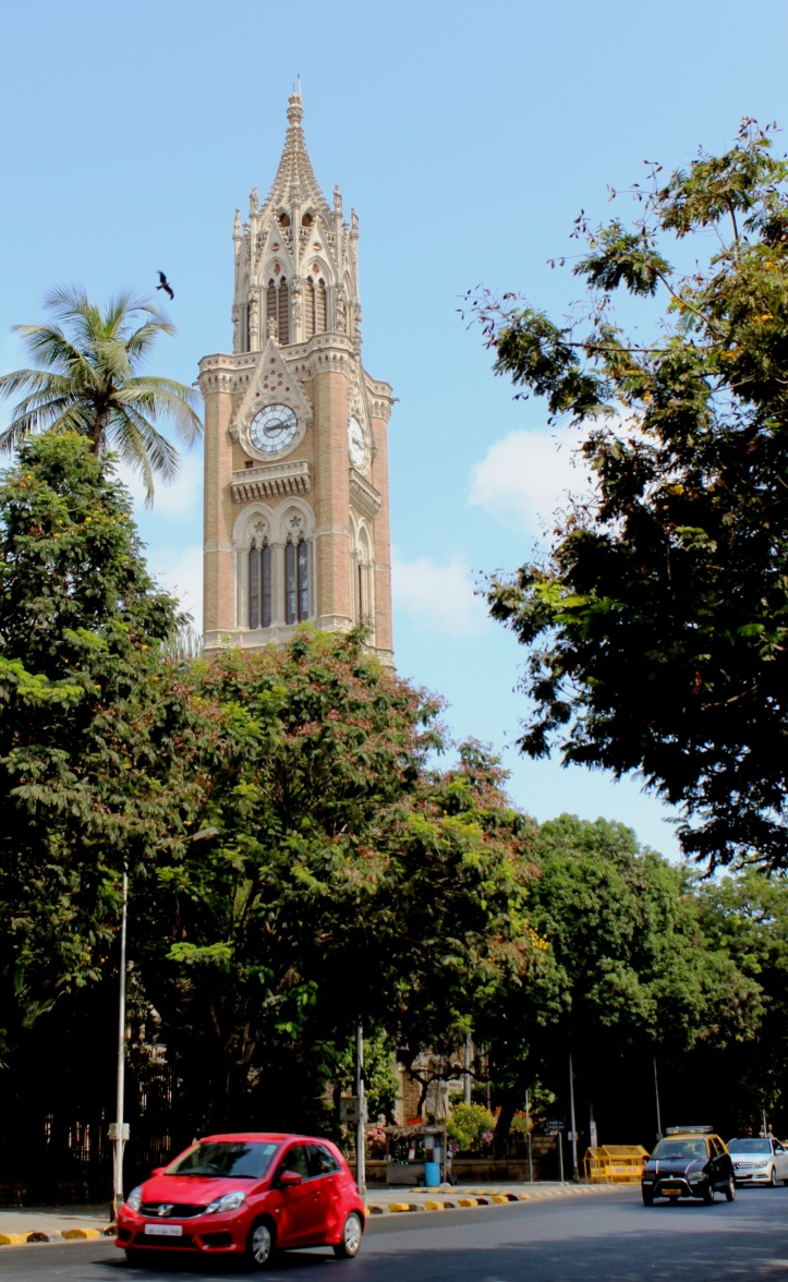 The Rajabai Clock Tower is a clock tower in South Mumbai, India; the tower stands at a height of 85 m - Photograph in mirandavoice.com