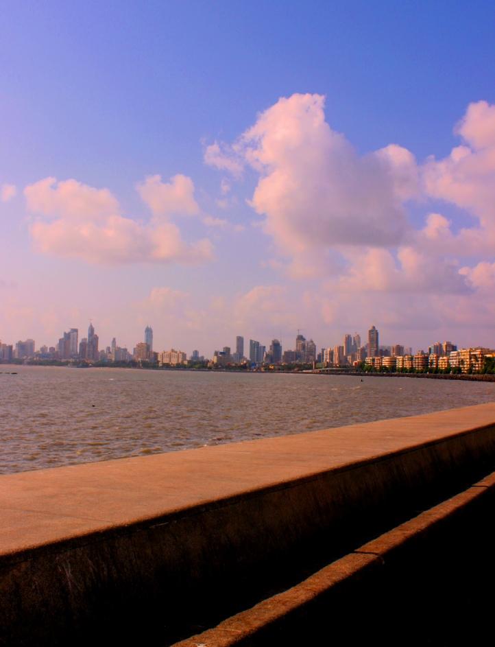 The Marine Drive Skyline in South Mumbai - Photograph in mirandavoice.com