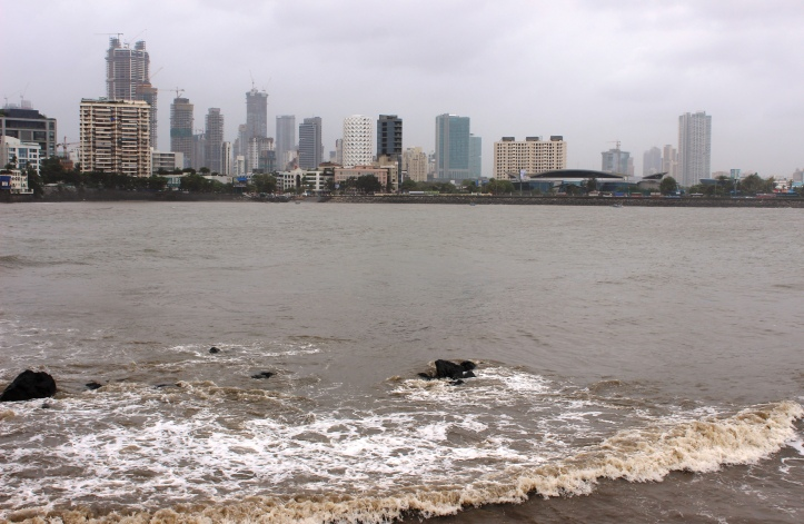 The view of Mumbai's cityscape, from Worli Bay, during the monsoon - Photograph for purchase at Shutterstock